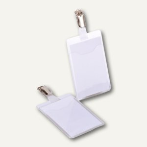 Durable Namensschild mit Clip, 60 x 90 mm, offen, transparent, 25 St., 8107-19