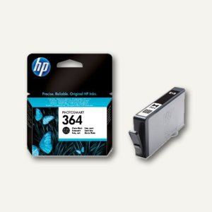 HP Tintenpatrone Nr.364, ca. 130 Fotos, schwarz, CB317EE