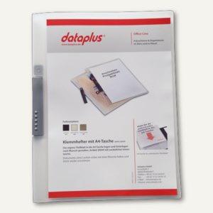 Klemmhefter DIN A4, PP, bis 50 Blatt, Klemme silber, transparent, 25 Stück