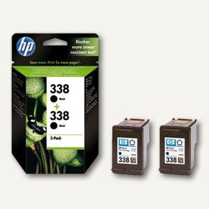 HP Tintenpatronen Nr. 338 schwarz, 2 x 11 ml, Doppelpack, CB331EE