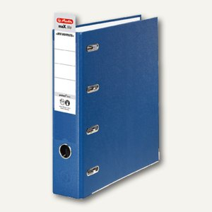 Herlitz PP-Doppelordner maX.file protect twin, 70 mm, blau, 10842276