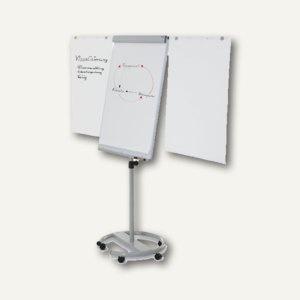 """Magnetoplan Flipchart """" de Luxe"""", mobil, 1000 x 730 mm, silber/weiß, 12270F13"""
