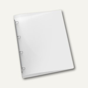 Ringbücher PROPYGLASS® Viquel A4, 4-Rund-Ringe Ø 20 mm, transluzent-klar, 12 St.