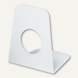 MAUL Buchstützen aus Kunststoff, 9x10, 5x12 cm, glasklar, 10 Stück, 3510005