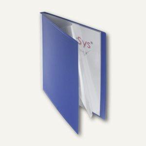 FolderSys Sichtbuch DIN A4, incl. 20 Hüllen, blau, 20 Stück, 25002-40