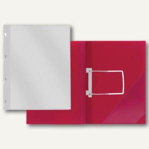 FolderSys Einhakhefter DIN A4, PP, Klarsichttasche, weiß, 50 Stück, 11027-10-010