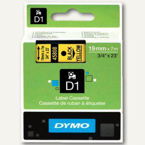 Dymo D1 Etikettenband, 19 mm x 7m, schwarz auf gelb, S0720880 - Vorschau
