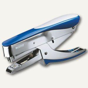 LEITZ Heftzange 5548, für Klammern 24/6, Einlegetiefe 54 mm, blau, 5548-00-33