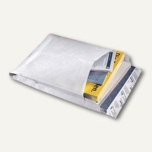 Faltentasche B4, 353 x 250 x 38 mm, haftklebend, 70 g/m², reißfest, weiß, 20 St.