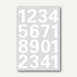 Herma Zahlen, 25 mm, 0-9, wetterfest, Folie weiß, 10x1 Blatt, 4170