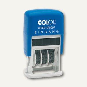 "Colop MiniDater S160/L, Datum- u. Text "" EINGANG"", rot/blau, 1456010223 - Vorschau"
