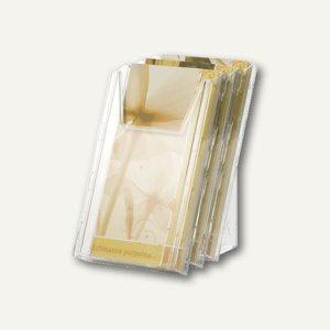 Durable Prospektspender COMBIBOXX 1/3 A4, 3 Fächer, transparent, 8599-19