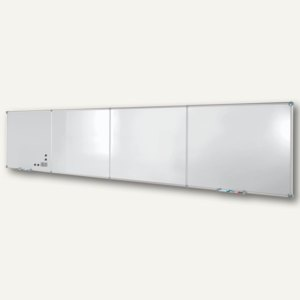 Hebel Endlos-Whiteboards - Grundmodul, Emaille, 120 x 90 cm, quer, grau, 6334684