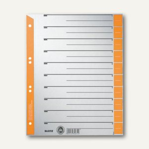 LEITZ Trennblätter DIN A4, orange, 100 Blatt, 16520045