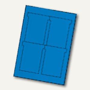 Ultradex T-Karten, bedruckbar, 92 x 120 mm Breitformat, blau, 80 St., 543456