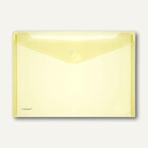 FolderSys Dokumententaschen DIN A4 quer, gelb, Klettverschluß, 100 St., 40101-64