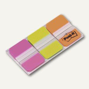 Post-it Index Strong, 25.4 x 38 mm, pink/grün/orange, 3 x 22 Streifen, 686-PGO