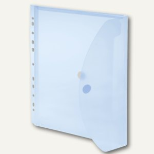 FolderSys Umschlag, A4, PP, Abheftstreifen, 20mm, transp. blau, 50 St., 40109-44
