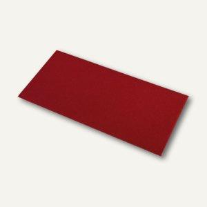 Briefumschläge mit Seidenfutter DL, 100g/m², rosso gerippt, 100 St., 16400272