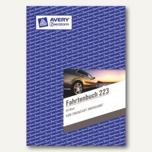 Avery Zweckform Fahrtenbuch DIN A5 hoch, mit Jahresabrechnung, 40 Blatt, 223