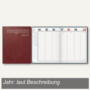 "Dohse Buchkalender "" magnum Catana"", 1 Woche/2 Seiten, 245 x 190 mm, bordeaux"