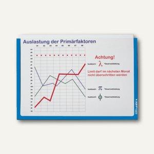 Ultradex Infotaschen DIN A4, quer, selbstklebend, blau, 5 Stück, 878907