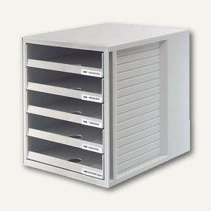 HAN Schubladenbox SCHRANKSET, fünf offene Schübe, lichtgrau, 1401-11 - Vorschau