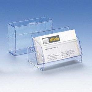 Visitenkartenbox bis 100 Visitenkarten, transparent, 50 Stück, 96619-1