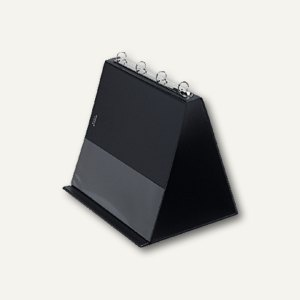 Veloflex Tischflipchart, DIN A4 quer, 4 Ringe Ø 20 mm, PVC, schwarz, 4101 080