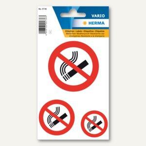 """Herma Hinweisetiketten, """" Nicht rauchen"""", wetterfest, 10x 3 Etiketten, 5736"""