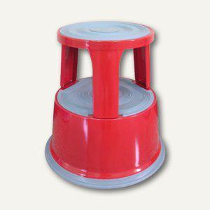 officio Rollhocker, Metall, Höhe 43 cm, Tragkraft 150 kg, rot - Vorschau