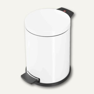 Hailo Tret-Abfallsammler ProfiLine Solid 14, 14 Liter, Stahlblech, weiß, 0514-089