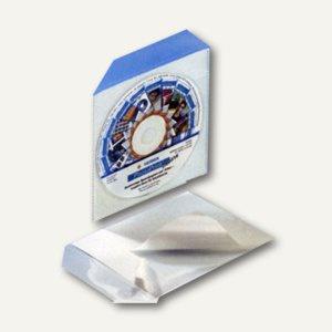 CD-Tasche PP selbstklebend, mit Klappe, transparent, 100 Stück, 95493-1