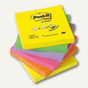 Post-it Haftnotizen Z-Notes Neon, 76 x 76 mm, 6x 100 Blatt, R330NR - Vorschau