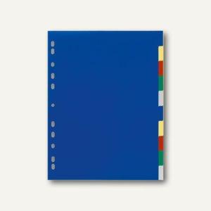 Register Kunststoff, blanko, DIN A4 Überbreite, 10 tlg., dunkelblau, 20 St.