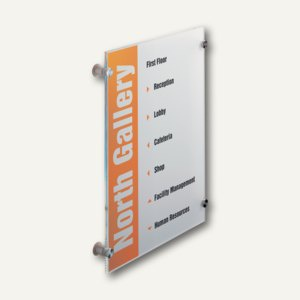 Durable Türschild CRYSTAL SIGN, Acrylglas, 297 x 420 mm, 4826-19