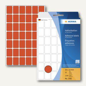 Herma Vielzweck-Etiketten, 16 x 22 mm, rot, 5 x 1.344 Stück, 2382 - Vorschau