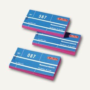 Herlitz Nummernblöcke, 105x53 mm, Nr. 1-1000, 1000 Blatt, 10 St., 892703