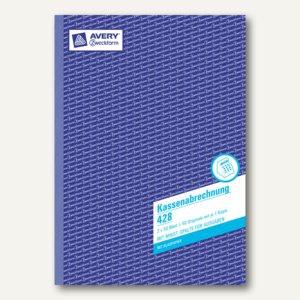 Zweckform Kassenabrechnung A4, MwSt.-Spalte für Ausgaben, BP, 2x 50 Blatt, 428