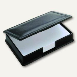 """Läufer """" Modena"""" Zettelkasten aus glattem Rindsleder, schwarz, 34016"""