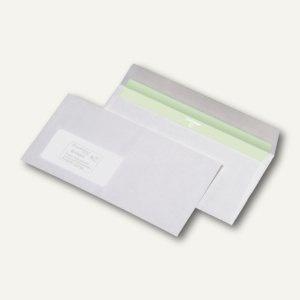 Briefumschlag DL, haftklebend, CO2-neutral 75g/m², Fenster, hochweiß, 1.000 St.