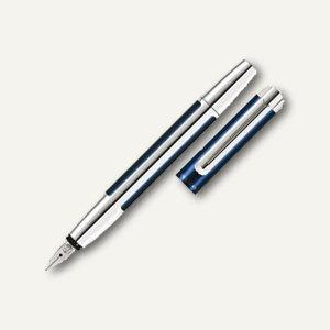 Pelikan Füllhalter PURA 40, Aluminium, Edelstahlfeder M, blau / silber, 954909