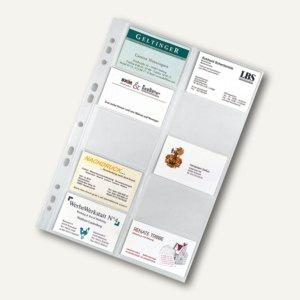 Visitenkartenhüllen DIN A4, PP 100my, 20 Karten pro Hülle, 10 Stück, 5341000