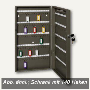 Alco Schlüsselschrank mit 140 Haken, 270 x 515 x 52 mm, lichtgrau, 89633 - Vorschau