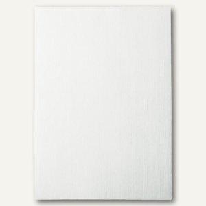 LEITZ Deckblatt, DIN A4, Leinenkarton 240 g/qm, weiß, 100 Stück, 33650