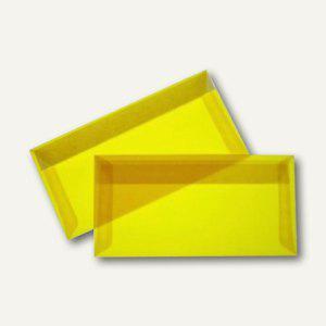 Briefumschlag DIN lang, haftklebend, 100 g/m², transparent-gelb, 100 St.
