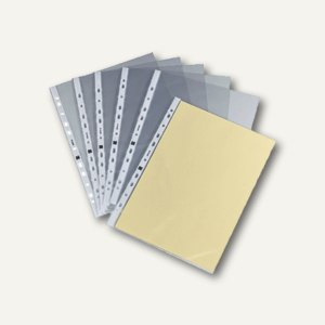 officio Prospekthüllen DIN A4, 100my, glasklar, oben offen, 100 Stück, 931729