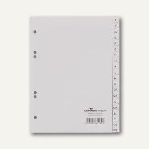 Durable Buchstabenregister, DIN A5, A-Z, 20 tlg., grau, 20 Stück, 6550-10