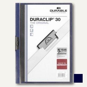 Durable Klemmhefter DURACLIP® 30, DIN A4, bis 30 Blatt, nachtblau, 2200-28