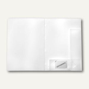 Angebotsmappe, bis 50 Blatt A4, PP, Abheftlasche, weiß, 50 St., 10017-10
